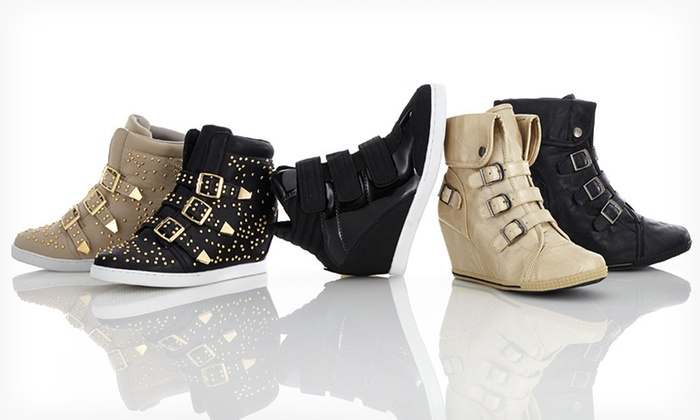 Bucco Wedge Sneakers: Bucco Wedge Sneakers (Up to 65% Off). Multiple Styles, Colors, and Sizes Available. Free Shipping and Free Returns.