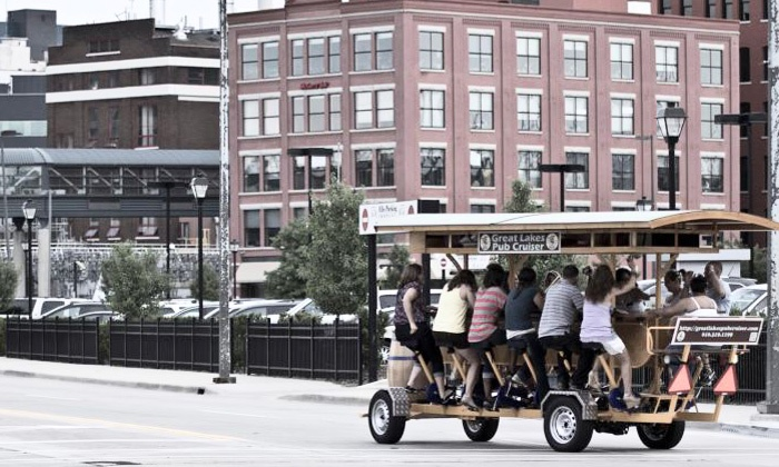 Great Lakes Pub Cruiser - Great Lakes Pub Cruiser: $140 for Pedal-Pub Cruise for Eight on March 22–April 27 at Great Lakes Pub Cruiser ($280 Value). 32 Options Available.