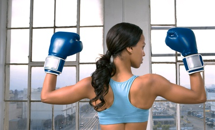 One Month of Unlimited Women's Cardio Kickboxing Classes at Aim 4Fitness (Up to 81% Off). Two Options Available.