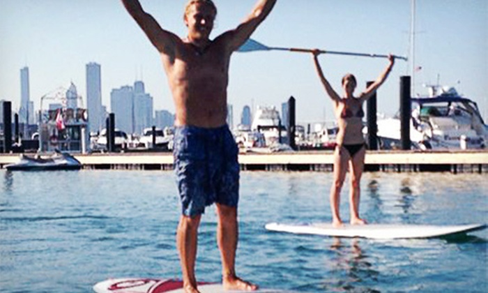 Chicago Jet Ski Rentals - Edgewater: $25 for Two-Hour Standup-Paddleboard Rental from Chicago Jet Ski Rentals (Half Off)