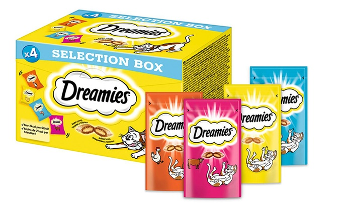 Groupon Goods Global GmbH: Dreamies Selection Box for Cats 120g