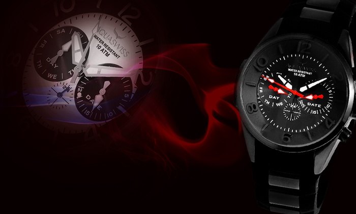 Aquaswiss Trax 5-Hand Watch: Aquaswiss Trax 5-Hand Unisex Watch ($1,000 List Price). Multiple Styles Available.