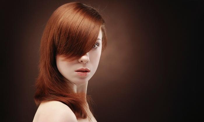 Sibrals Headz N Tact - Old San Leandro: Haircut, Shampoo, Deep Conditioning, and Flat-Iron or Press, or Makeup Application at Sibrals Headz N Tact (53% Off)