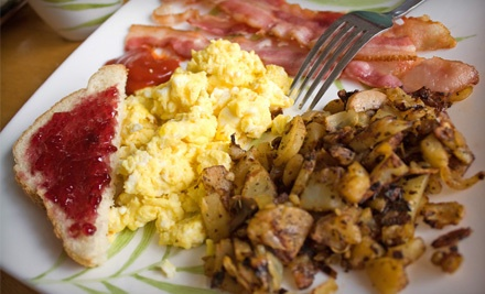 2 Breakfast Dishes, Each with 3 Eggs Cooked Any Style and Choice of Meat (a $19 value) - Cafe 50's in Sherman Oaks