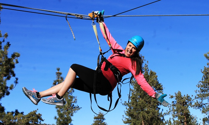 Action Zipline - Big Bear: $99 for a Three-Hour Zipline Tour and Flash Drive at Action Zipline Tours ($165 Value)