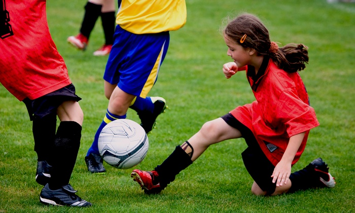 Soccer Shots - Cleveland: Four Weeks of Kids' Indoor Soccer Lessons for One or Two at the DK Sports Training Facility (Up to 55% Off)