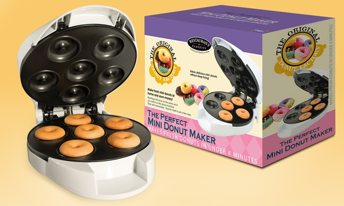 mini donut machine groupon goods. Black Bedroom Furniture Sets. Home Design Ideas