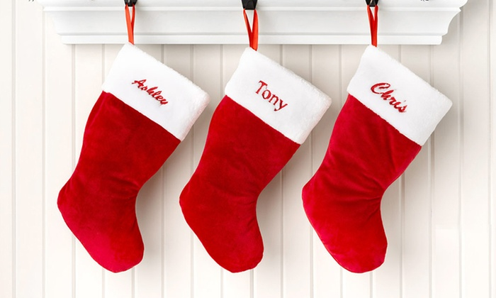 Personalised Christmas Stockings One 12 Or Two 22 Redeemable Online Don T Pay Up To 49 98