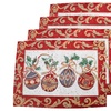 Set of 4 Dainty Home Holiday Tapestry Placemats