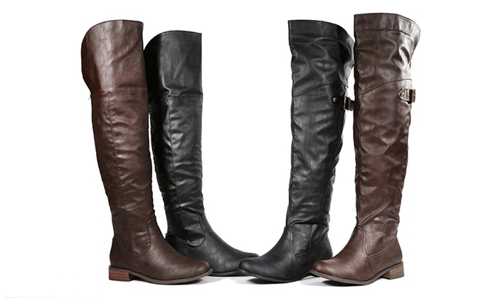 Bucco Women's Over-the-Knee Riding Boots: Bucco Women's Over-the-Knee Riding Boots. Multiple Options Available. Free Returns.