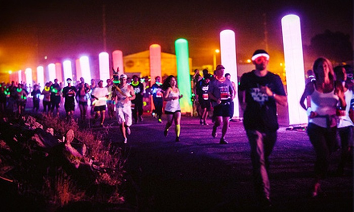 The Rave Run 5K - Capitol Hill: $30 for The Rave Run Nighttime 5K with Glow Gear, T-shirt, and Afterparty on Saturday, August 17 (Up to $60 Value)