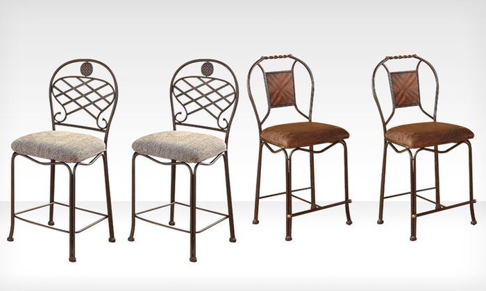 "Set of 2 Acme Furniture 24"" Tavio Barstools: Set of 2 Acme Furniture 24"" Tavio Barstools (Up to 45% Off). Multiple Designs Available. Free Shipping and Returns."