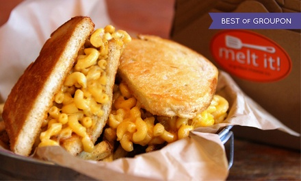 $10 for $18 Worth of Gourmet Grilled Cheese and Drinks at Melt It!