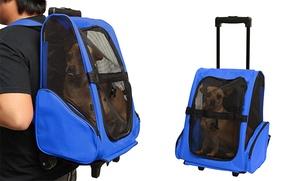 Rolling Backpack Pet Carrier: Rolling Backpack Pet Carrier