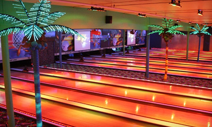 Emerald Lanes - Central Rim: Bowling and Arcade Games for Four at Emerald Lanes (Up to Half Off). Two Options Available.