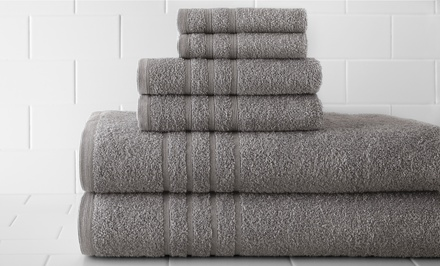 Spa Collection 6-Piece 100% Egyptian-Cotton Towel Sets. Multiple Colors Available. Free Returns.