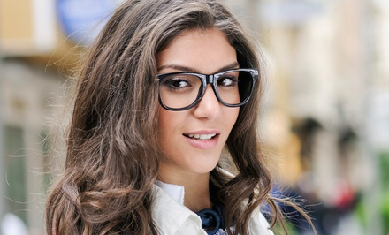 $49 for $valu Toward Prescription Eyeglasses at Pearle Vision. Three Locations Available.