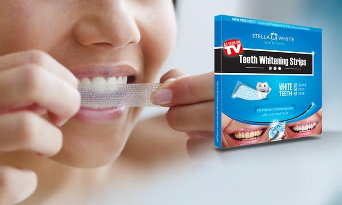 28 56 ou 112 bandes de blanchiment dentaire Stella White dès 1290€