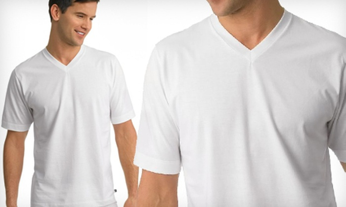 Jockey Men's V-Neck 2-Pack: $15 for Two Jockey Men's Staycool V-neck T-shirts ($27 List Price). Multiple Colors and Sizes Available. Free Shipping.