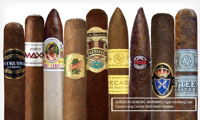 Cigar Samplers from Mike's Cigars: 8-, 9-, or 10-Cigar Samplers from Mike's Cigars (Up to 59% Off). Free Shipping.