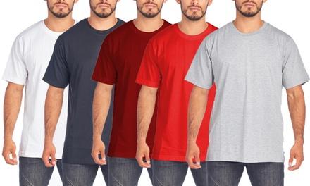 SEL Men's Big & Tall Crew-Neck Cotton Tee (2XL-5XL; 3-Pack)