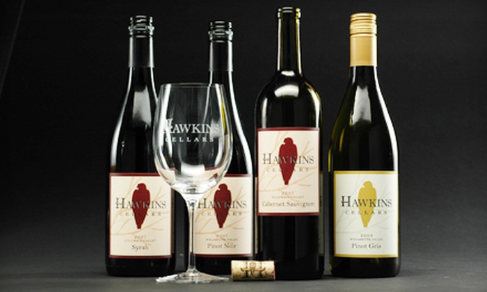 Hawkins Cellars - Dundee: Wine-Tasting Package with Glass and Merchandise Credit for One or Two at Hawkins Cellars in Dundee (Half Off)