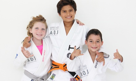 One or Two Months of Unlimited Jiu Jitsu Classes for Kids or Adults at Art of Jiu Jitsu Academy (Up to 77% Off)