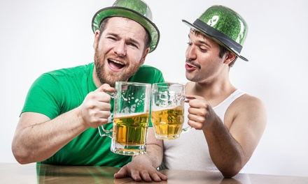 [St. Paddy's Pub Crawl for Two or Four on March 13–17 from Boston Pub Crawl (Up to 56% Off) Image]