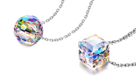 One or Two Philip Jones Sterling Silver Aurora Necklaces with Crystals from Swarovski®
