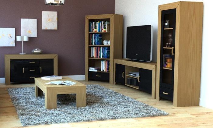 Village Interiors (UK) SOR: Oak And Black Gloss Living Room Furniture From  ... Part 35