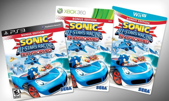 "Sega ""Sonic & All-Stars Racing"" Video Game: $28 for Sega ""Sonic & All-Stars Racing Transformed"" ($39.99 List Price). 3 Options Available. Free Shipping and Returns."