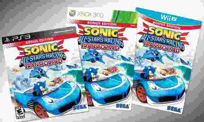"""Sega """"Sonic & All-Stars Racing"""" Video Game: $28 for Sega """"Sonic & All-Stars Racing Transformed"""" ($39.99 List Price). 3 Options Available. Free Shipping and Returns."""