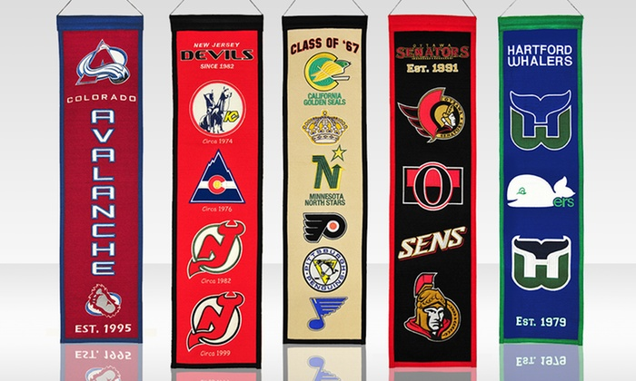 NHL Heritage Banner: $22.99 for an NHL Heritage Banner ($29.99 List Price). Multiple Teams Available. Free Returns.