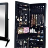 Bella Standing Mirror with Jewelry Cabinet