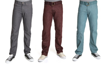 Agile Collection Men's Colored Twill Pants. Multiple Colors Available. Free Returns.