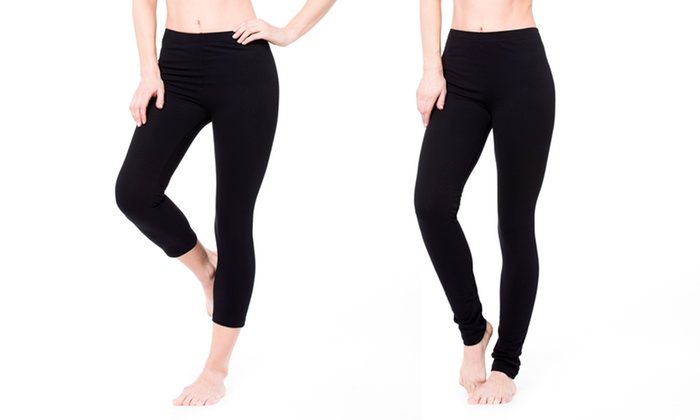 Pair of Regular or Cropped Heavy-Knit Leggings: Pair of Regular or Cropped Heavy-Knit Leggings. Multiple Sizes Available. Free Returns.
