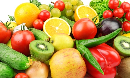 $15 for One Bin of Home-Delivered Organic Fruits and Vegetables from It's Organic! ($34.99 Value)