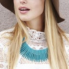 Turquoise Teeth Necklace