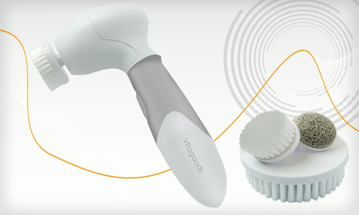 Cleansing, Exfoliating Brush System: $29.99 for a VitaGoods Spin for Perfect Skin Brush System ($100 List Price). Free Shipping and Free Returns.