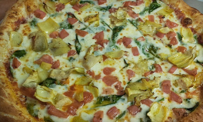Si'z Pizzeria - Denton: Four Medium One-Topping Pizzas and 24 Wings or $10 for $20 Worth of Food at Si'z Pizza