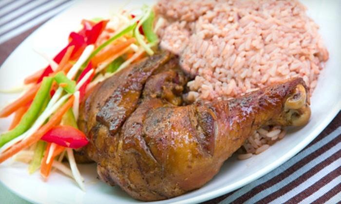 Mi'irie Mon Caribbean Restaurant - Liberty Area: Caribbean Food at Mi'irie Mon Caribbean Restaurant (Half Off). Two Options Available.