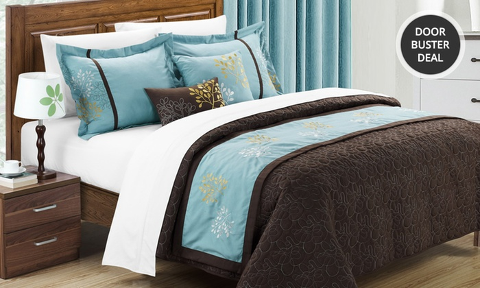 Embroidered 6-Piece Coverlet Set: Embroidered 6-Piece Coverlet Set. Multiple Colors Available. Free Returns.