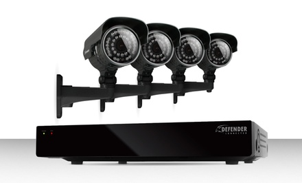 Defender Connected 4-Channel Smart Security DVR with 500GB HDD and 4 Outdoor Security Cameras (21021). Free Returns.