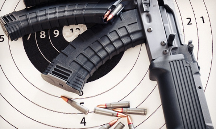 Battlefield Vegas - Winchester: Shooting-Range Visit with a Colt M4 Commando, H&K MP5SD, and Ammo for One or Two at Battlefield Vegas (Up to 54% Off)