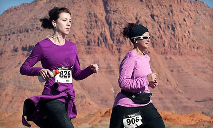 She Runs - Midway: Race Entry for One to the She Runs' Run Like a Girl 5K or 10K in Midway (Up to Half Off)