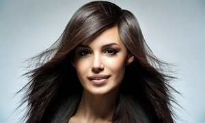 Rivaage Salon & Medi-Spa: $61 for a Women's Haircut, Style, and Brazilian Blowout at Rivaage Salon & Medi-Spa ($100 Value)