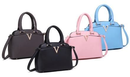 Women's Bowler-Style Handbag