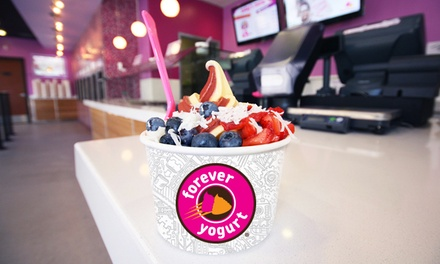 Frozen Yogurt and Smoothies at Forever Yogurt (40% Off). Ten Options Available.