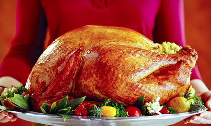 Sheba Foods - Multiple Locations: African Thanksgiving Dinner with Turkey, Stuffing, Sauce, and Option for 3 or 6 Sides from Sheba Foods (Up to 60% Off)