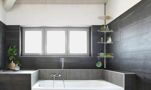 Étagère douche acier inoxydable